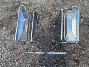 Vintage 16 Heavy Duty Truck Side Mirror Set Ford Chevy Dodge International Mack