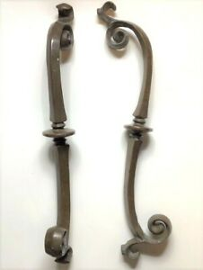 Salvaged Rare C1880 Solid Cast Brass Hearse Carriage Handles Door Pull 18 Gothic