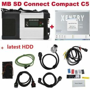 Dhl V2021 3 Hdd Mb Sd C5 Connect Compact 5 Star Diagnosis For Cars truck Wifi