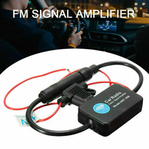 Car Auto Stereo Fm Am Radio Signal Antenna Aerial Amp Amplifier Booster Inline
