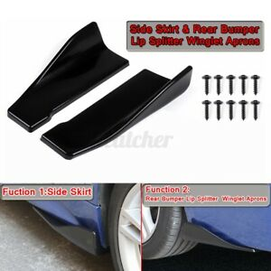 2x Rear Bumper Lip Body Kit Splitter Aprons Canard Side Skirt For Subaru Wrx Sti