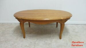Ethan Allen Coffee Table French Country Bisque Oval