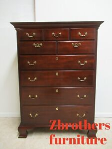 Kindel Winterthur Solid Mahogany Chippendale Dresser Chest Of Drawers