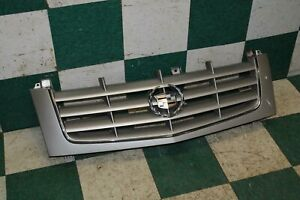 02 06 Escalade Silver Painted Upper Bumper Mounted Grille Grill Assembly Oem