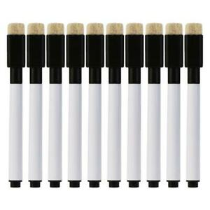 10 Pcs Whiteboard Pen Erasable Marker Office School Stationery Supplies