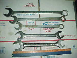 5 Vtg Proto Challenger Wrenches 1 1 16 15 16 13 16 7 8 And 26mm 24mm Sizes
