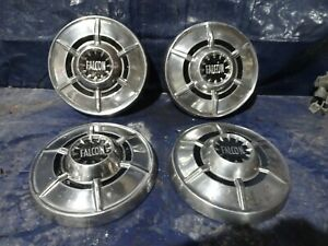 1964 1965 Ford Falcon Dog Dish Hub Caps 9 1 2 Hubcaps Set Of 4