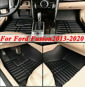 For Ford Fusion 2013 2020 Floor Mat Black Front Rear All Weather 3pc Waterproof