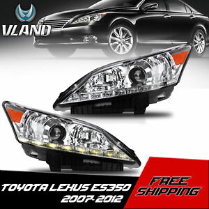 Vland Customized Led Headlights With Drl Dual Beam For 2007 2012 Lexus Es350