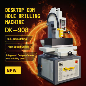 Us Delivery Fast sparking Edm Wire Cutting Machine Dk 908 0 3 3mm Hole Popper