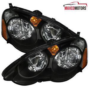 Black For 2002 2003 2004 Acura Rsx Headlights Signal Parking Lamps Left Right