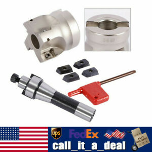 Face Shell Mill Arbor 400r 50mm Face End Mill Cutter Tools Set 1 Wrench 4pcs