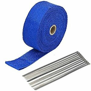 2 X 50 Exhaust Heat Wrap Roll For Motorcycle Fiberglass Heat Shield Tape With