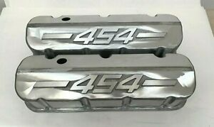 Big Block Chevy 454 Tall Valve Covers Unfinished W Raised Logo Ansen Usa