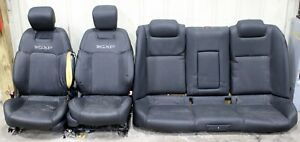2008 2009 Pontiac G8 Gt Gxp Black Leather Seats Front Rear Used Oem Gm