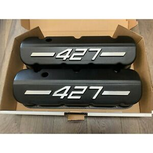 Big Block Chevy 427 Tall Valve Covers Black W Raised Logo Ansen Usa Seconds