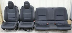 2010 2015 Chevrolet Camaro Ss Black Cloth Seat Set Front Rear Used Gm 1