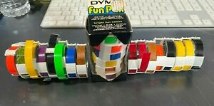 22 Rolls Colorful Label Tape Dymo Embossing Label Maker Tape 3 8