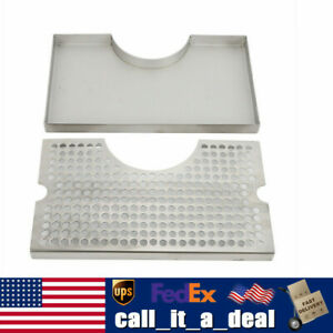 Tower Drip Tray For Draft Beer Keezer Or Bar Durable Removable Stainless Steel