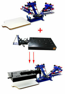 Updated 3 Color 1 Station 1 Rotary Dryer Silk Screen Printing Machine Diy Supply