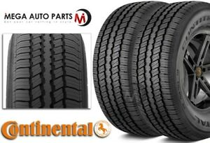 2 Continental Contitrac P235 70r16 104t Owl All Season Highways Truck Suv Tires