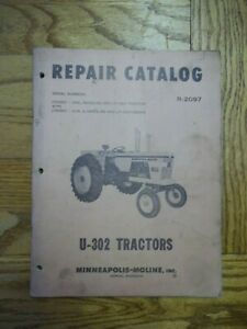 Minneapolis moline U 302 Tractor Repair Catalog