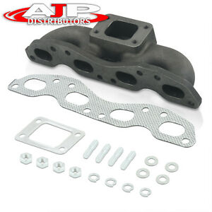 T3 T4 Top Mount Exhaust Turbo Manifold Header For 1989 1998 240sx S13 S14 Sr20