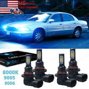 For Buick Park Avenue 1991 2005 8000k Led Headlight High Low Beam Bulbs 2pc