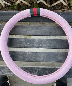 Gucci Steering Wheel Cover 14 15 Fits Most Vehicles Color Pink