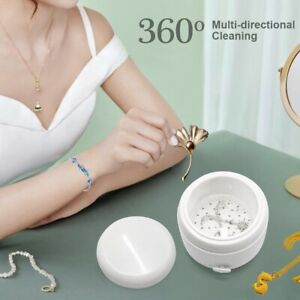 150ml Portable Ultrasonic Cleaner Jewelry Rings Necklace Glasses Cleaner Machine