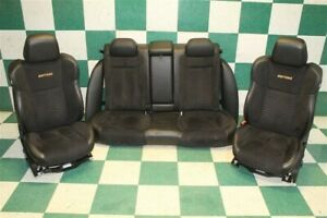 15 20 Charger Daytona Black Suede Leather Power Front Buckets Backseat Seats Oem
