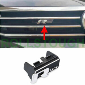 Front Grille R line Badge Emblem For Magotan B8 2017 2019 Replacement R Emblem
