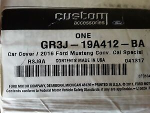 New 2016 Ford Mustang Conv California Special Car Cover Ford Oem Accessory
