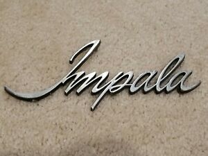 Chevrolet Impala Metal Car Grill Emblem Ornament Nameplate Old Vintage 7 Badge