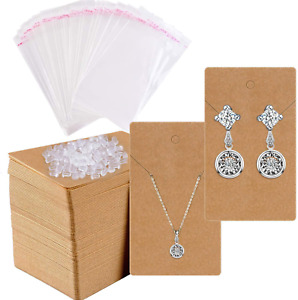 Earring Cards For Display 200 Pcs Holder Packaging Jewelry With 400 Backs