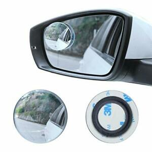 Blind Spot Mirror 2 Round Hd Glass For Rear View Mirror Wide Angle Pack Of 2