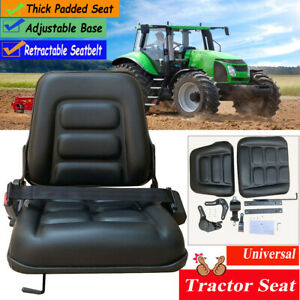 Universal Forklift Seat Tractor Suspension Seat With Seatbelt Fits Most Seats Us