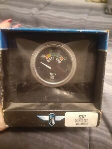 Stewart Warner 82347 Deluxe Battery Voltmeter Gauge 24v Negative Ground