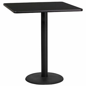 Flash Furniture 36 Square Black Laminate Bar Table