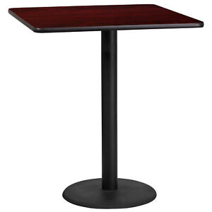 Flash Furniture 36 Square Mahogany Laminate Bar Table