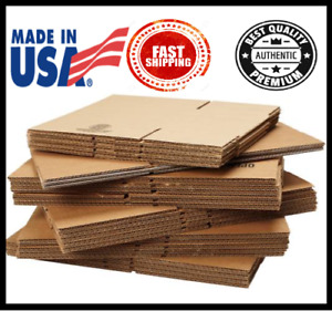 25 Pack Shipping Boxes Packing Mailing Moving Storage Corrugated Boxes Uline
