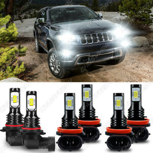 For Jeep Grand Cherokee 2014 2018 Combo Led Headlights fog Light Bulbs Kit 6000k