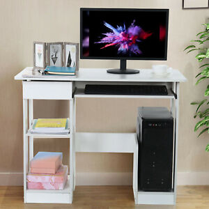 modern Computer Desk Pc Workstation Study Table Home Office Writing Table Wood