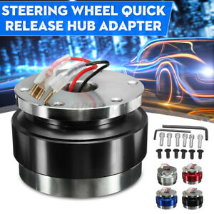 Universal Car Steering Aluminum Wheel Quick Release Hub Adapter Snap Off Set Us