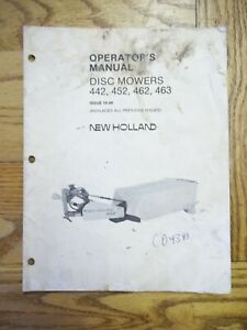 New Holland Disc Mower 442 452 462 463 Owners Manual