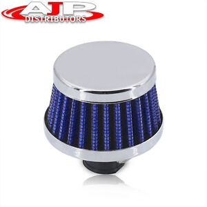 12mm Air Intake Breather Filter Blue Oil Catch Crankcase Universal Vent Valve