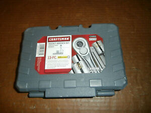 New Craftsman 13 Piece Metric 3 8 Drive Socket Wrench Set 34866 In Case