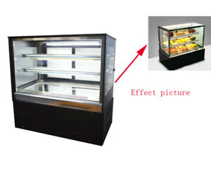 Countertop 220v Refrigerated Cake Showcase 35 4in Energy Saving Display Cases