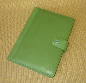 Classic Franklin Covey Green Faux Leather Wire Bound Planner Cover