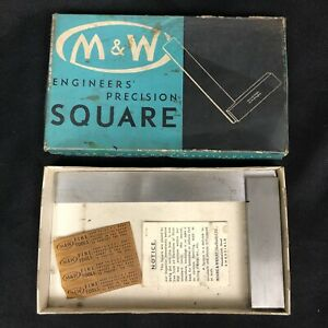 Moore Wright No 400 6 Engineers Precision Square Machinist Tool England